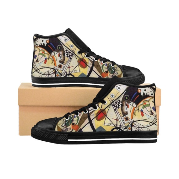 Wassily Kandinsky, Transverse Line, Women's High-top Sneakers, Abstract