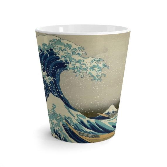 The Great Wave off Kanagawa, 12oz Latte mug, From A Vintage Woodblock Print, Coffee, Tea