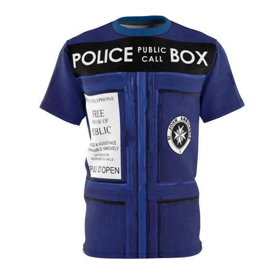 TARDIS Unisex T-shirt, Inspired by BBC TV Show Doctor Who