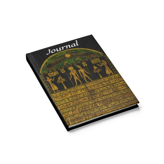 Stela Of Harsiese, Hardcover Journal, Ruled Line, Ancient Egyptian Hieroglyphs