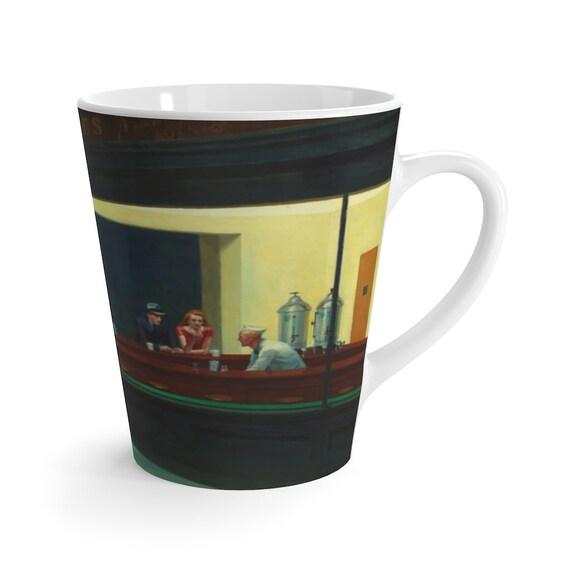 Nighthawks 12oz Latte Mug, Edward Hopper, Night Owls, Insomniacs, Americana