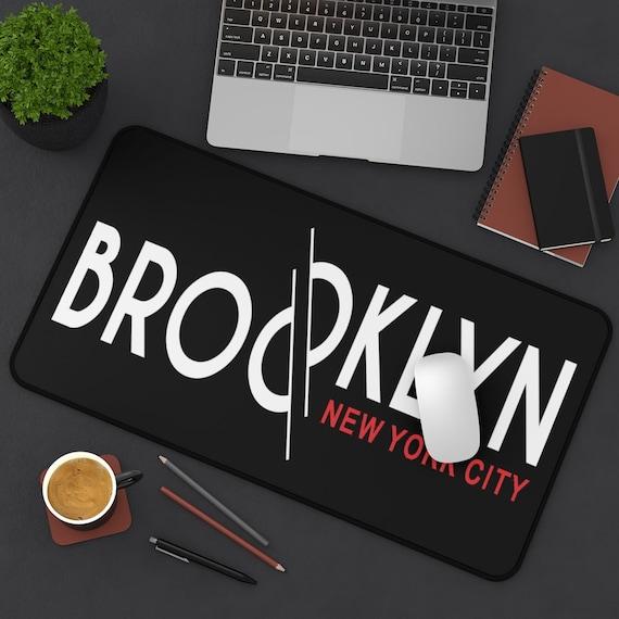 Brooklyn New York City Desk Mat, Vintage Retro Style Design, Brooklyn Pride