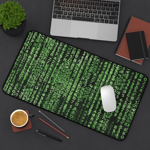 The Matrix Code Desk Mat, Inspired By The Matrix Movies