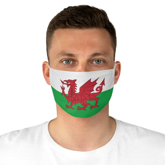 Red Dragon, Cloth Face Mask, Washable, Reusable, Wales Flag, Welsh Pride
