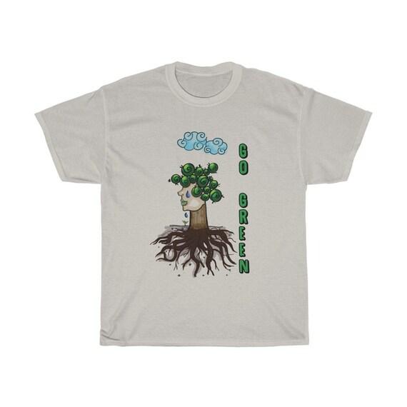 Go Green, 100% Cotton T-shirt, Conservation, Conservationism, Activism
