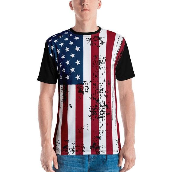 Shabby American Flag, Unisex T-shirt