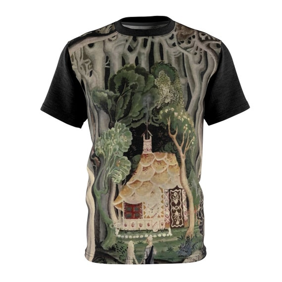 Gingerbread House, Unisex T-shirt, Hansel & Gretel, Vintage, Art Deco, Antique Watercolor
