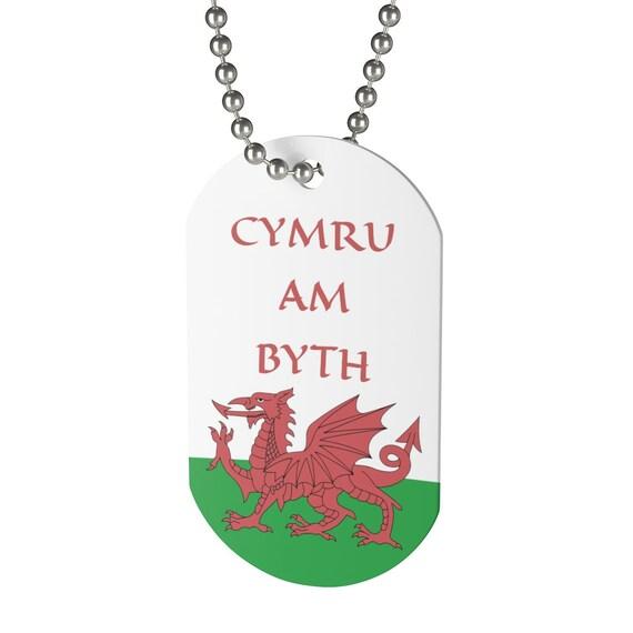 Cymru Am Byth, Dog Tag, Red Dragon, Flag Of Wales, Welsh Motto, Welsh Pride, Keychain