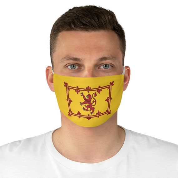Lion Rampant of Scotland, Cloth Face Mask, Washable, Reusable, Scottish Pride