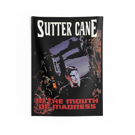 "In The Mouth Of Madness, 26""x36"" Indoor Wall Tapestry, Inspired from Fictional Sutter Cane Horror Novel"