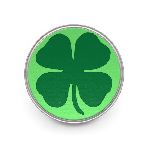 Four Leaf Clover, Pewter Pin, Good Luck, St. Patrick's Day, Ireland, Irish Pride, Leprechaun