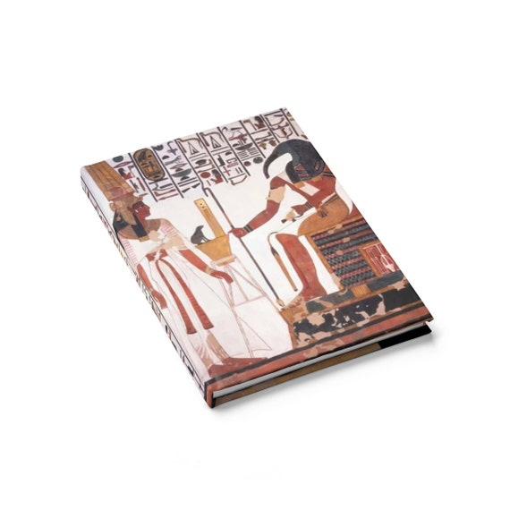 Nefertari Stands Before Thoth, Hardcover Journal, Ruled Line, Ancient Egyptian Hieroglyphs