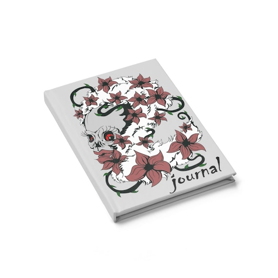 Hiding Behind The Thorns, Hardcover Journal, Ruled Line