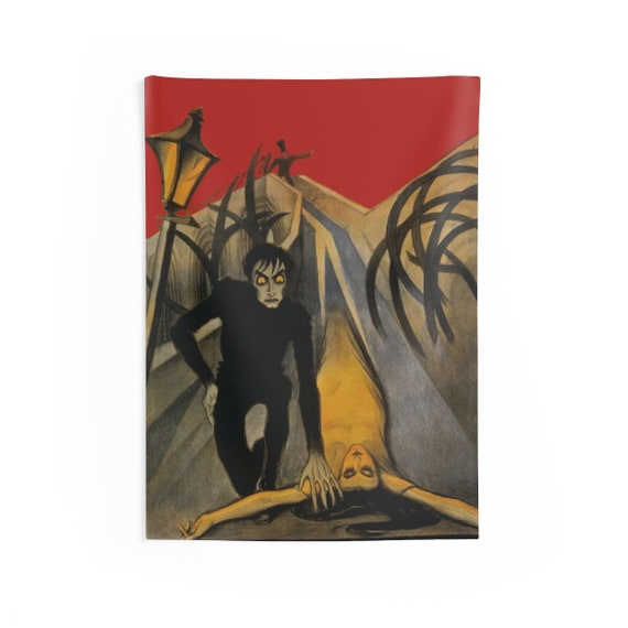 """The Cabinet of Dr. Caligari, 26""""x36"""" Indoor Wall Tapestry, 1920 German Silent Horror Film Poster"""