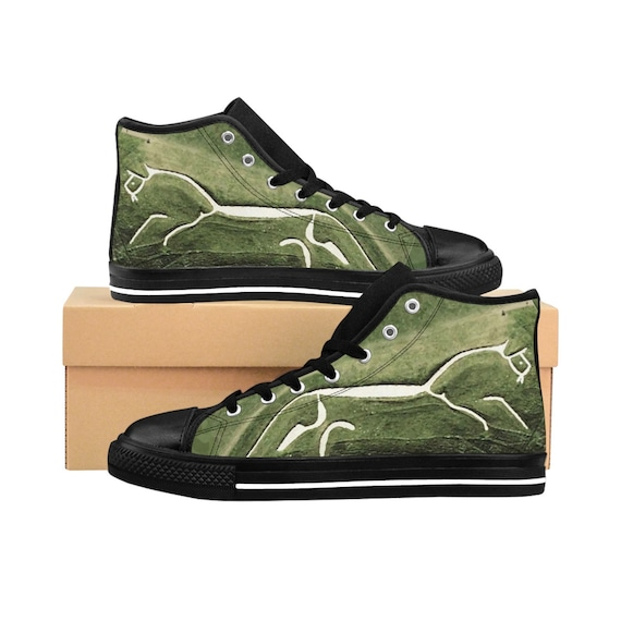 Uffington White Horse, Men's High-top Sneakers, Ancient Geoglyph