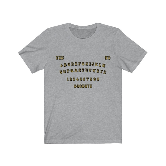 Gold Letter Ouija Board Bella+Canvas Soft T-shirt
