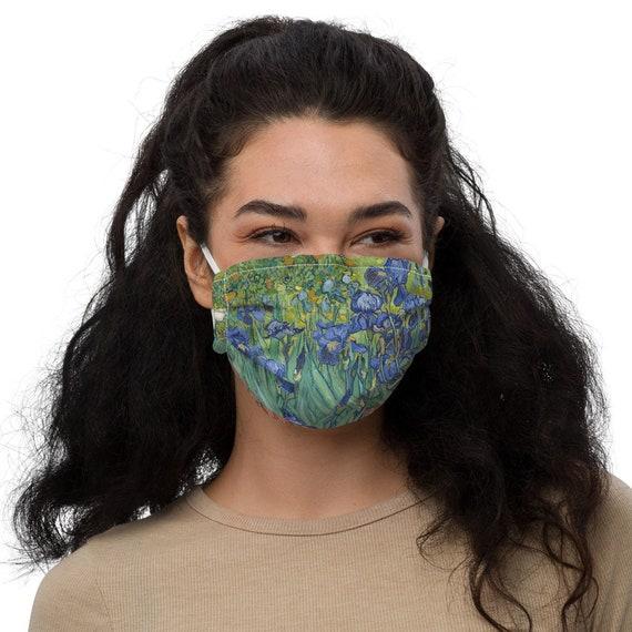 Irises, Face mask, Filter Pocket, Nose Wire, Vincent Van Gogh