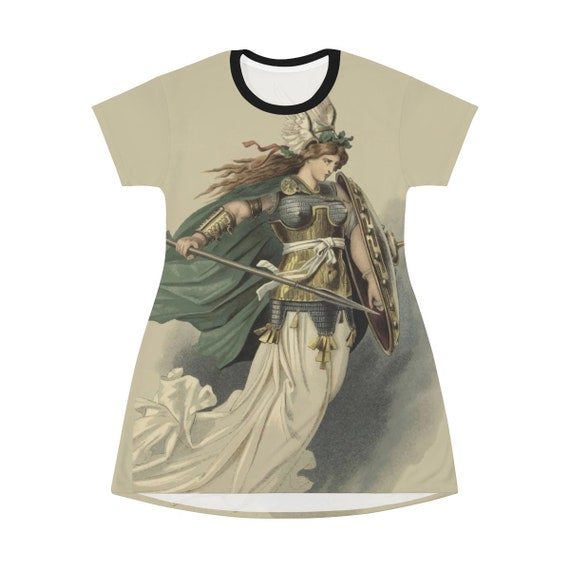 Valkyrie, T-shirt Dress Or Long Flared Top, Vintage Illustration, Carl Emil Doepler, 1876