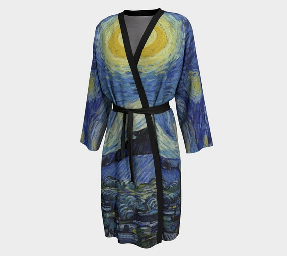 Starry Night, Women's Peignoir, Vintage Painting, Van Gogh 1889
