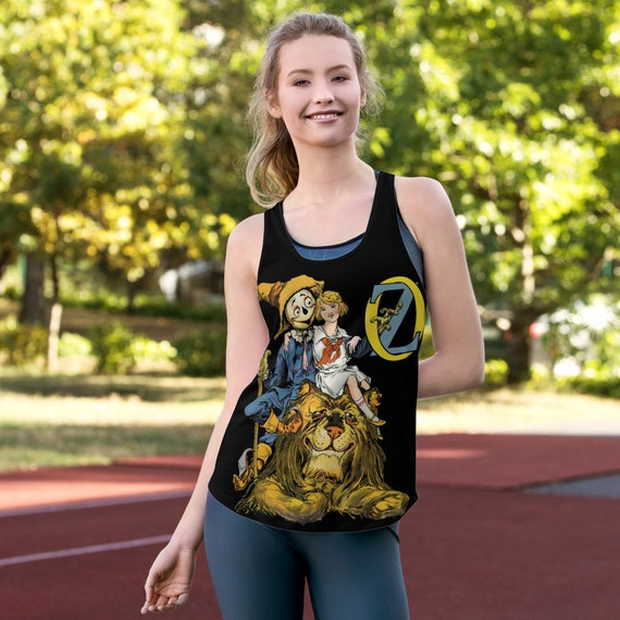 v2, Dorothy, The Scarecrow & The Cowardly Lion, Women's Racerback Tank, Wizard Of Oz