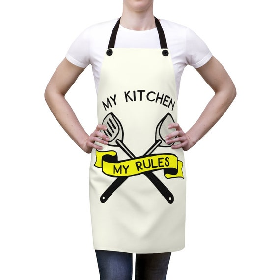 My Kitchen My Rules, Kitchen Apron, Funny Saying, Chef, Cook