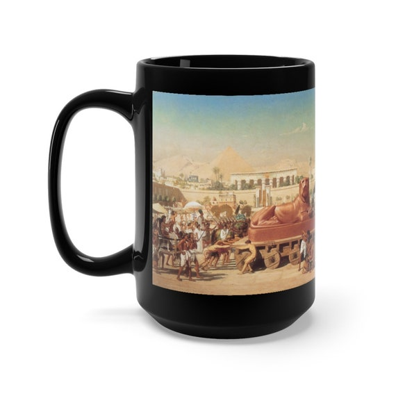 Ancient Egypt, 15oz Black Ceramic Mug, Edward Poynter, 1867, Coffee, Tea