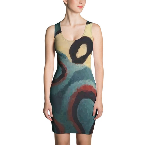 Picasso Beetle, Fitted Dress