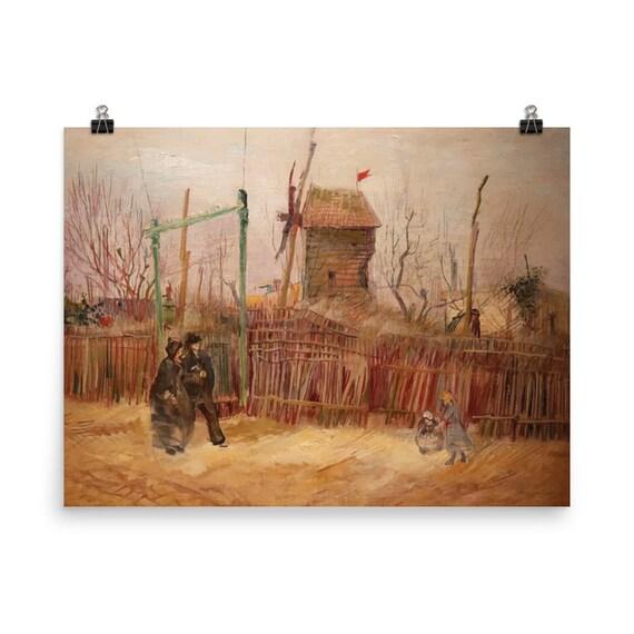 Street Scene In Montmartre v2 Giclée Poster, Vincent Van Gogh, 1887