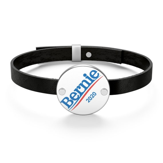 Bernie 2020, Sterling Silver Leather Bracelet