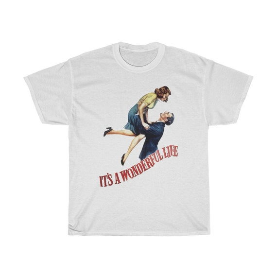 It's A Wonderful Life, Unisex T-shirt, Vintage 1946 Movie Poster