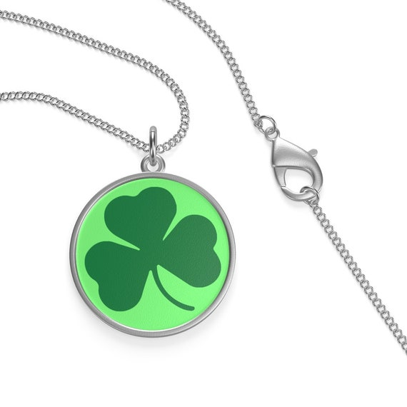 "Ireland's Shamrock, 16"" Sterling Silver Necklace, St. Patrick's Day, Irish Pride"