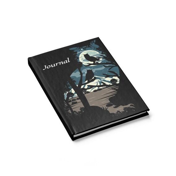 Night Owls, Hardcover Journal, Ruled Line, Vintage Inspired Design