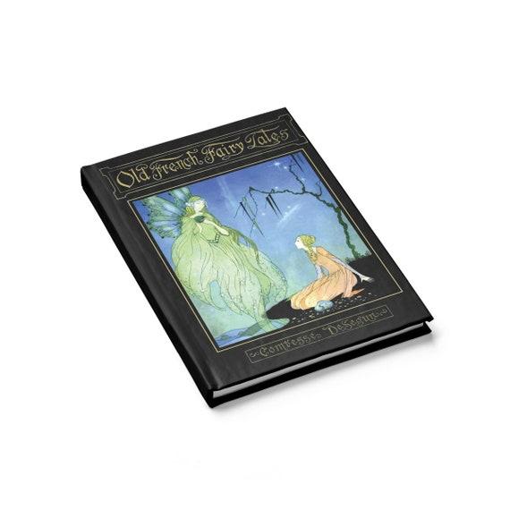 Old French Fairy Tales, Hardcover Journal, Ruled Line, Vintage Illustration, Virginia Frances Sterrett, 1920