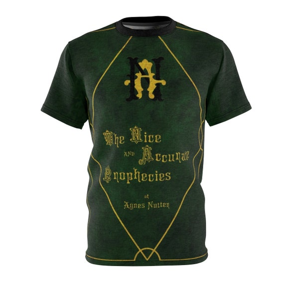The Nice and Accurate Prophecies of Agnes Nutter, Unisex T-shirt, Inspired By Good Omens, AOP