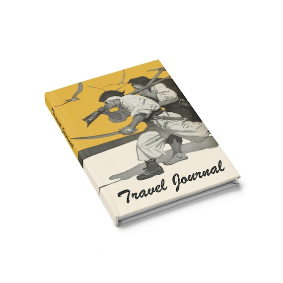 Pirate's Travel Journal, Hardcover, Ruled Line, Inspired From Treasure Island By Robert Louis Stevenson