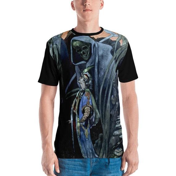 Conversation With Death, Unisex Jersey T-shirt, Vintage Illustration, AOP