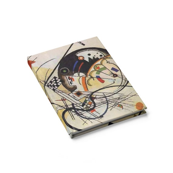 Transverse Line, Hardcover Doodle Book, Blank Pages, Opens Flat, Vintage Abstract Painting, Wassily Kandinsky, 1923