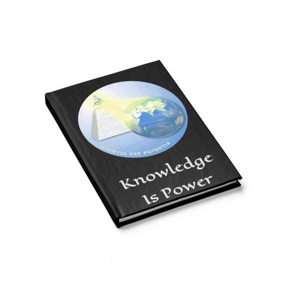 Knowledge Is Power, Hardcover Journal, Ruled Line, Eye Of Providence, Illuminati, DARPA