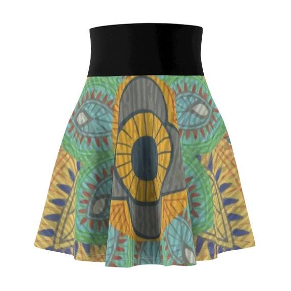 Boho Skater Skirt, Vintage Inspired Paisley Pattern
