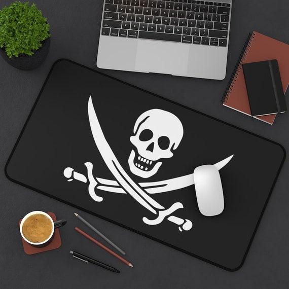Jolly Roger Desk Mat, Historical Pirate Flag Of Calico Jack