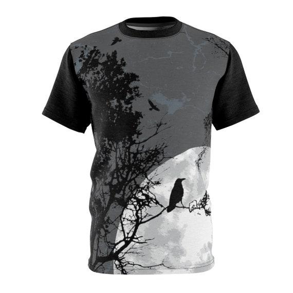 The Raven's Moon, Unisex T-shirt, Inspired By Edgar Allan Poe, AOP