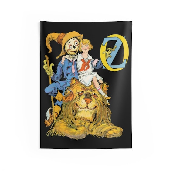 "Dorothy, The Scarecrow & The Cowardly Lion, 26""x36"" Indoor Wall Tapestry, Wizard Of Oz, Wall Decor, Room Decor"