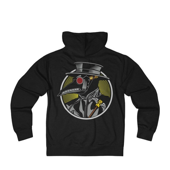 Plague Doctor, French Terry Zip Hoodie, Vintage Inspired Steampunk Image