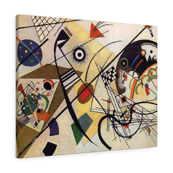 """Transverse Line, 30""""x24"""" Gallery Wrap Canvas, Wassily Kandinsky, Abstract"""
