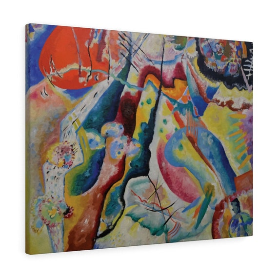 """Red Chalkboard, 30""""x24"""" Gallery Wrap Canvas, Wassily Kandinsky, Abstract"""