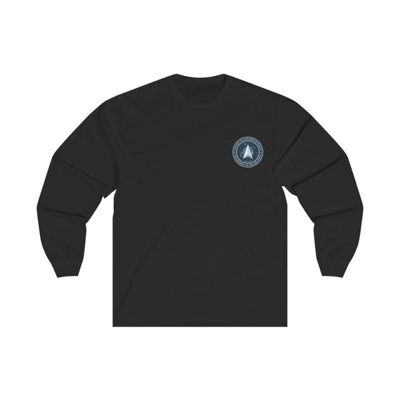 Space Force Insignia Logo v2, Unisex Long Sleeve Tee, From Official USSF Seal, Military