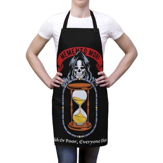 Memento Mori, Cookout Apron, Vintage Inspired Image
