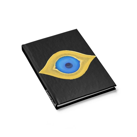 Evil Eye, Hardcover Journal, Ruled Line, Vintage Image, Notebook
