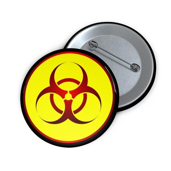 "Biohazard, 2"" Pin Button"