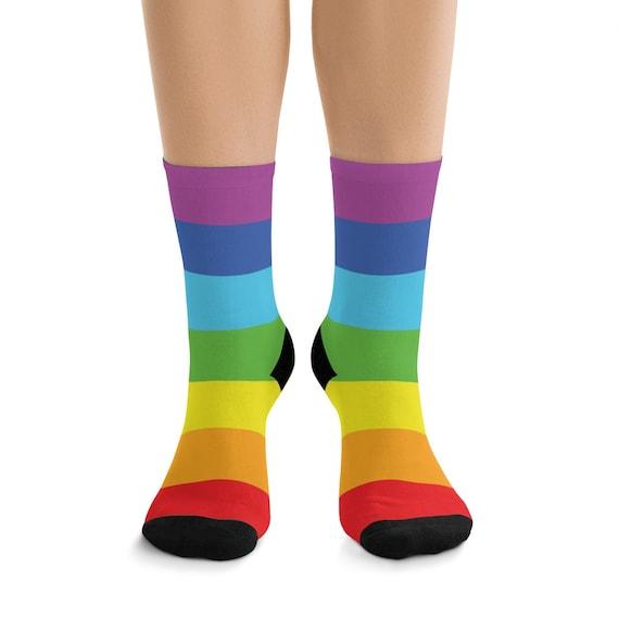 Rainbow Premium Crew Socks, One Size Fits Most